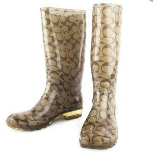Classic Coach rain boots size 7